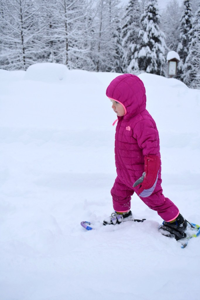 Toddlers Can Snowshoe Too!