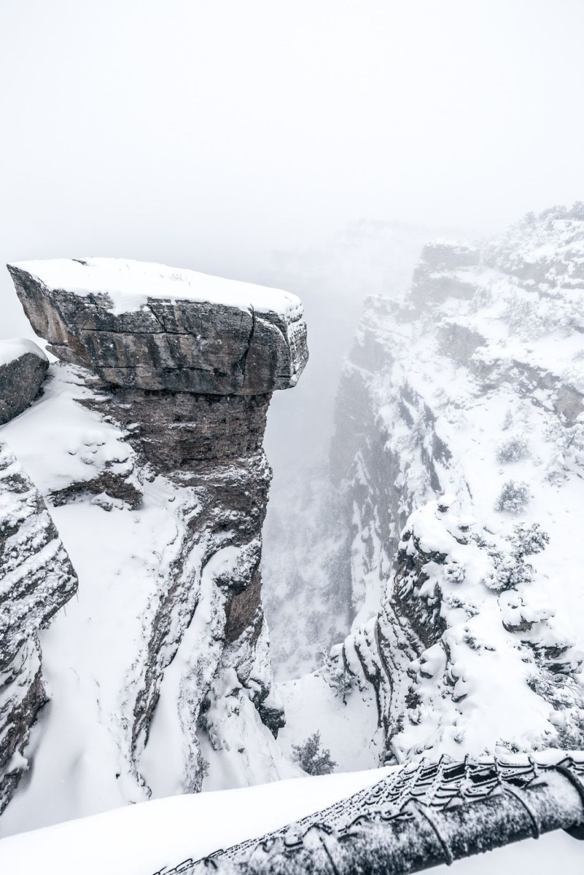 Snowstorm in Grand Canyon Village