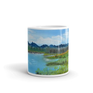 Up around Kusawa Lake, coffee mug