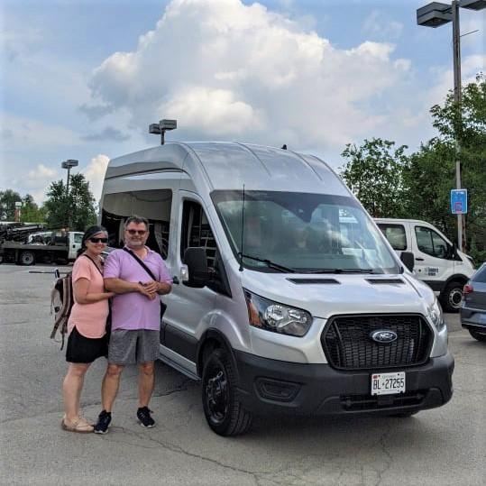 We got our Van!  2021 Ford Transit HR AWD - https://yula.ca
