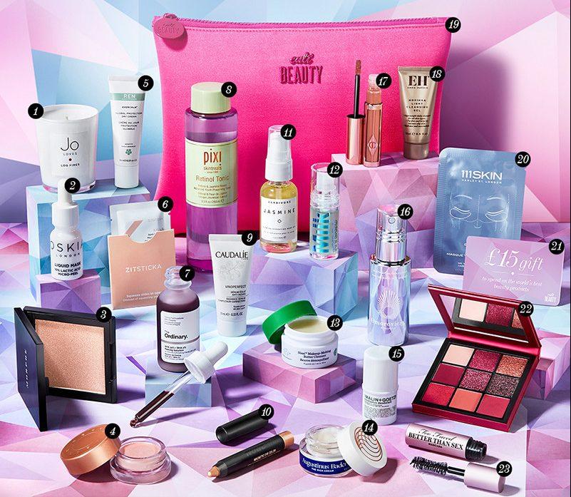 Пример наполнения Cult Beauty Goody Bag Зима 2019