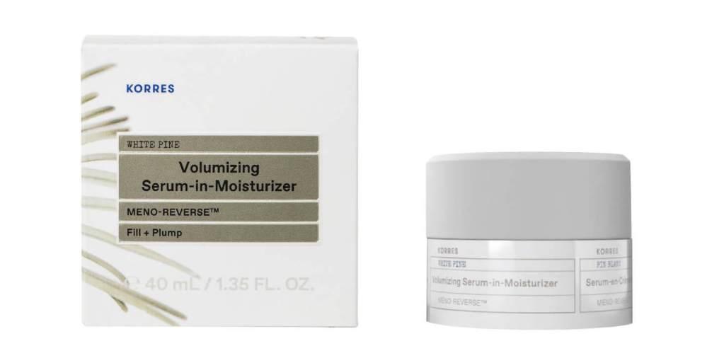 Korres, White Pine Meno-Reverse Volumizing Serum-in-Moisturizer. Наполнение Beauty Expert Serenity Edit