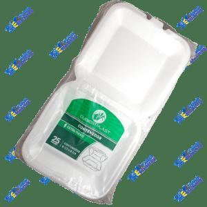 Cubiertplast Contenedor Plástico para Comida 81/2 x 81/4 Kit x 25 un