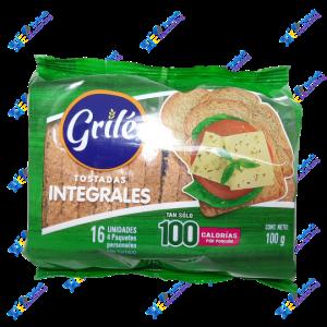 Grilé Tostadas Integrales 100 gr Packx16u