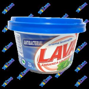 Lava Lavavajilla en Crema Antibacterial 450 gr