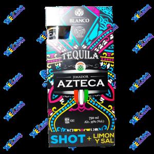 Azteca Tequila Blanco Limón y Sal mas copa 750ml