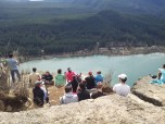 Popular lunch site overlooking Rattlesnake Lake. Too bad we didn't stay long since we had to rescue Stuart from the caves below.