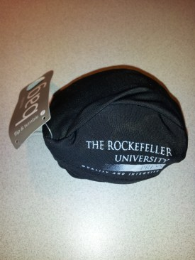 Useless collapsible shopping bag by the Rockefeller University Press.