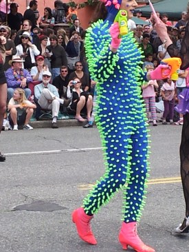 Awesome costume, made of Nerf bullets?