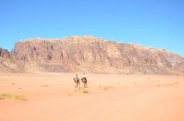 Camel riders, Wadi Rum