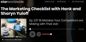 The Marketing Checklist Episode 237 re display ads