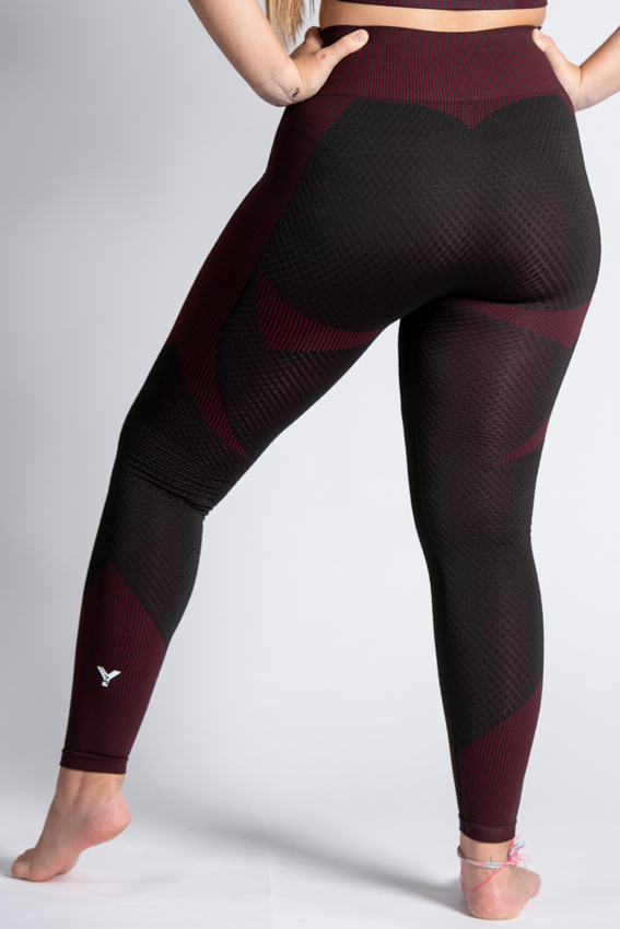 High-Waist Powerful Legging – Black/Red