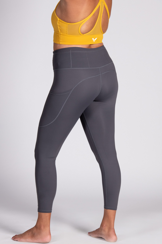 7/8 High-Waist Chilled Legging – Steel Gray