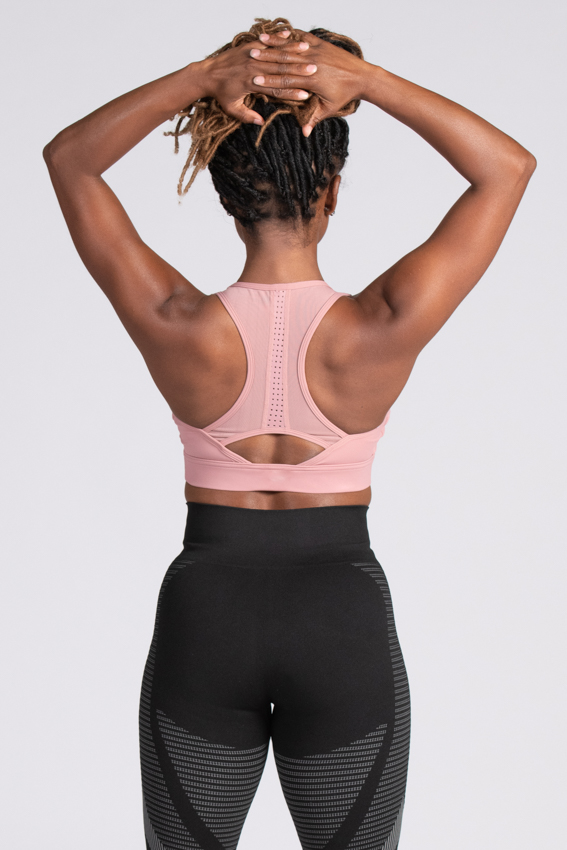 Enthusiastic High Impact Sport Bra  – Rose