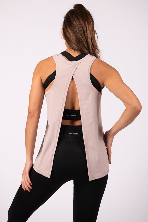 YULY360 Independent Open Back Tank Top - Raspberry Ice