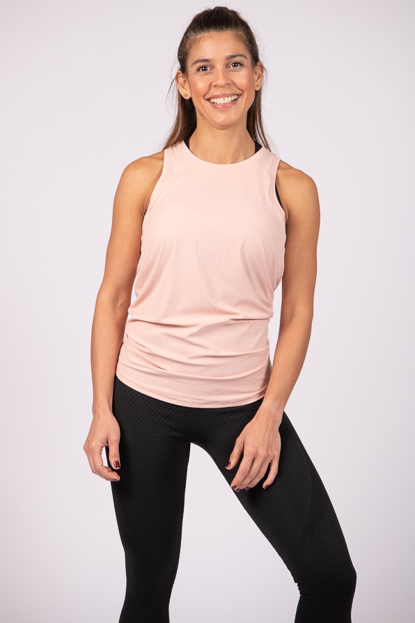 Independent Open Back Tank Top by YULY360 - Heavenly Pink