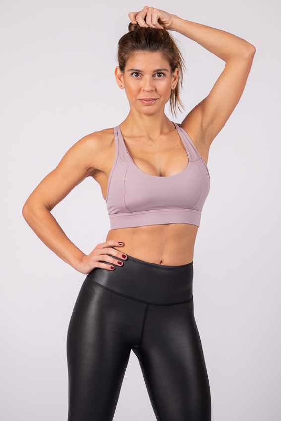 Straightforward  High Impact Sport Bra – Purple Heather