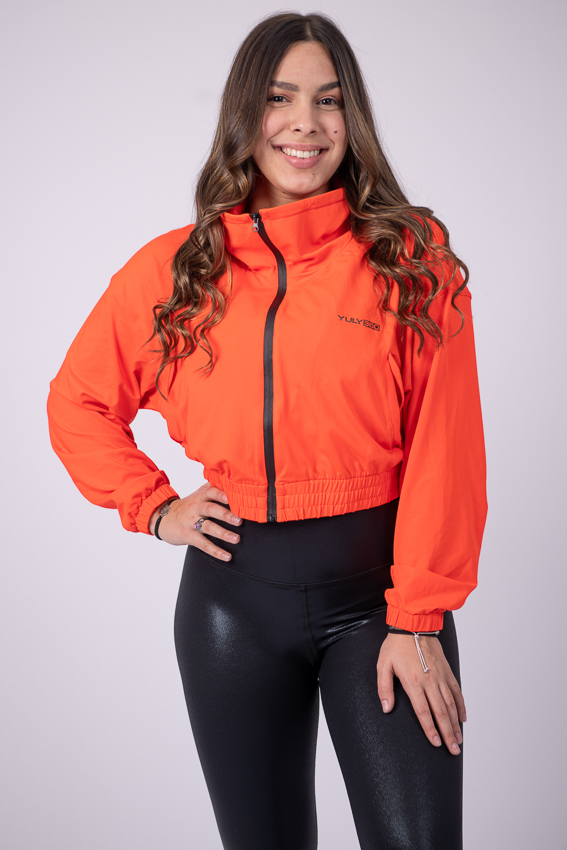On the Run Bomber Jacket – Tangerine