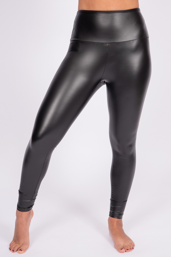 Bold Faux Leather Leggings – Caviar