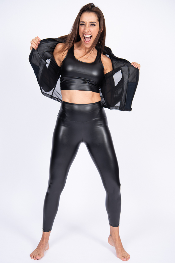 Bold Faux Leather Top- Yuly360
