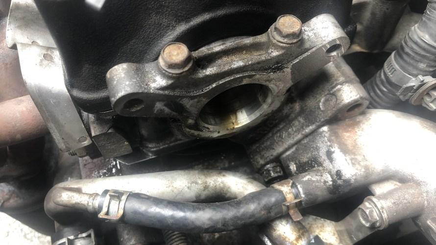 SUBARU R2 EN07(SOHC NA) デスビOリング交換 オイル漏れ修理