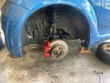 SUBARU R2 ブレーキキャリパー塗装 ドラム