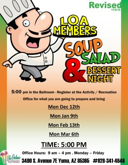 2016-2017 Owners Soup Salad Nights