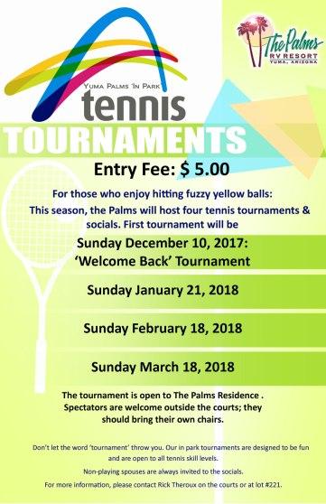 2017-2018 Tennis Tournaments