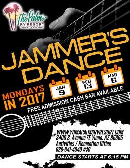 2017 Jammers Dance Schedule