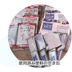 使用済み塗料の空き缶