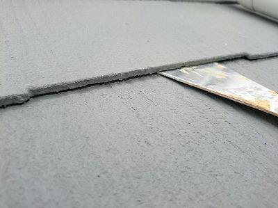 タスペーサーの使用していない状態の屋根
