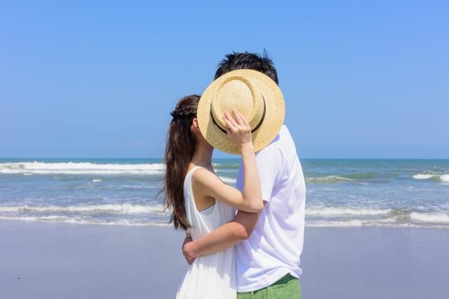 恋人とキス
