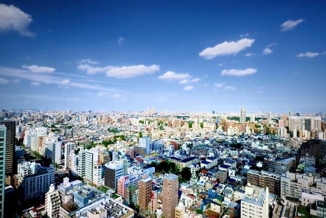 高層ビルから見る風景