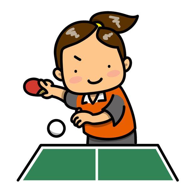 卓球でラリーをする
