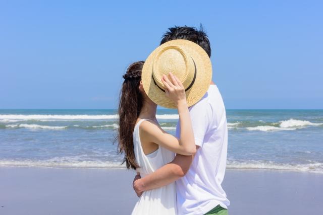 恋人にキスされる