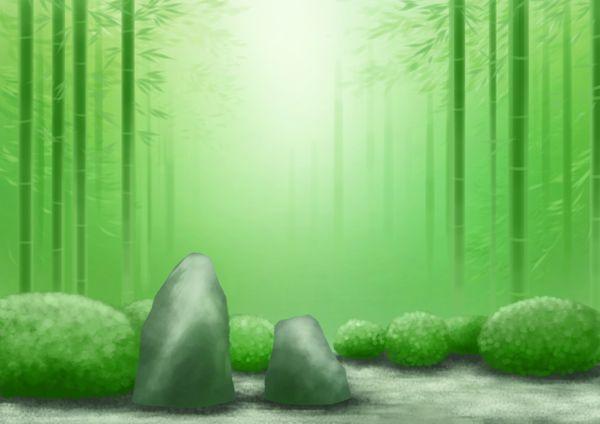 竹林を見る