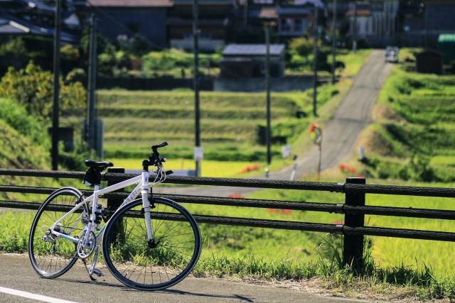 田んぼと自転車