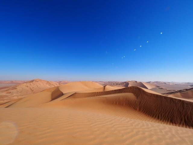 砂漠にいる