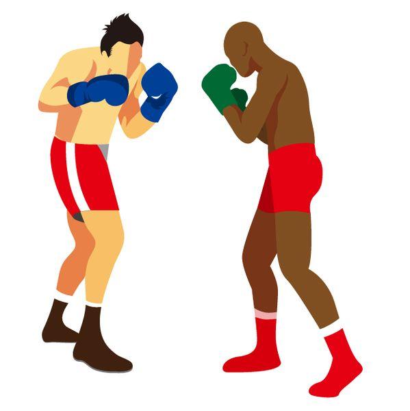ボクシングを夢中で観戦する