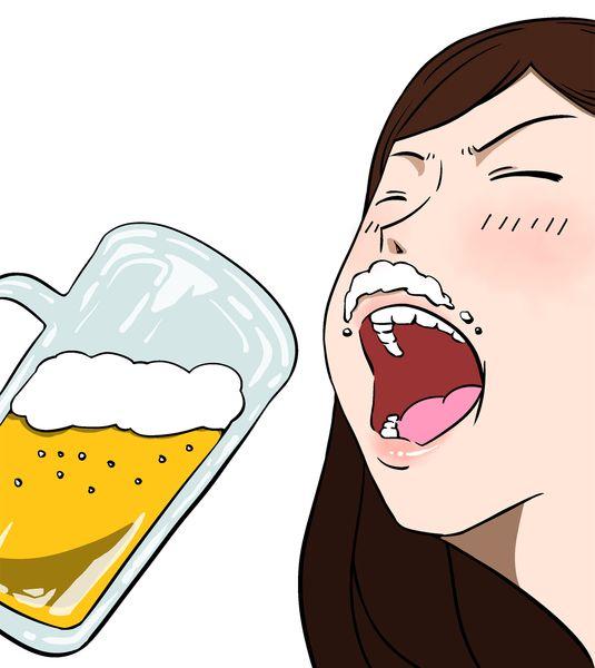 気になる異性の前で泥酔する