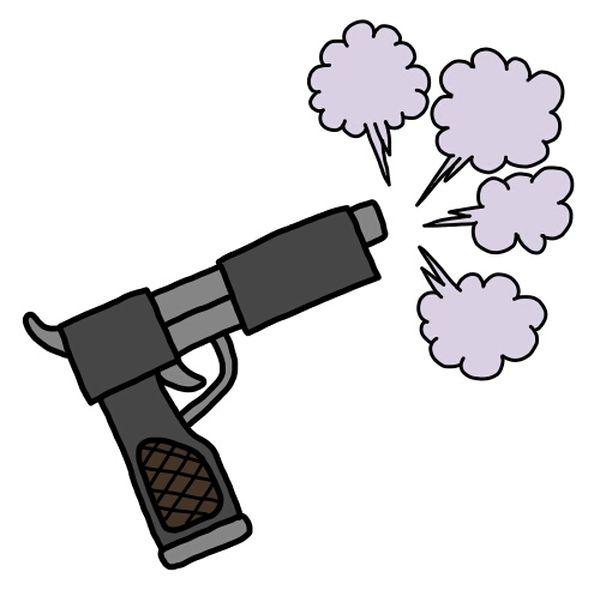 銃が暴発する