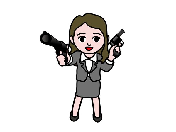 機関銃や銃を乱射する