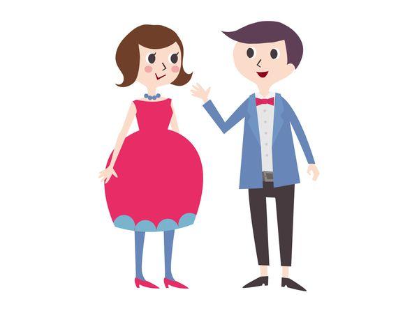 恋人と誰かの結婚式に出る
