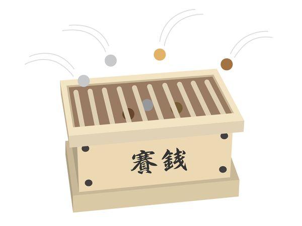 神社の賽銭箱