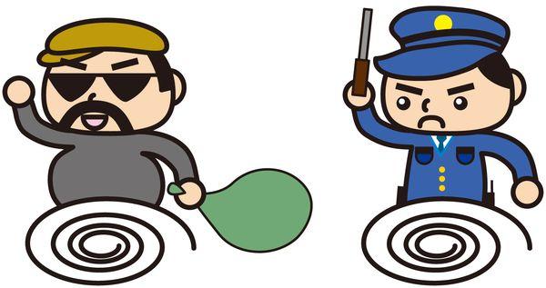 泥棒を追い払う