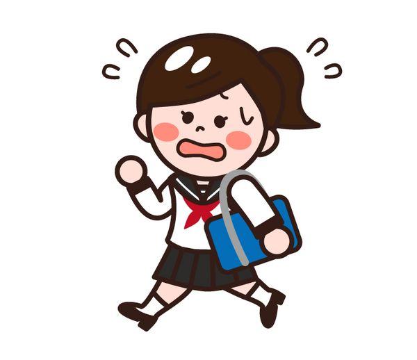 寝坊して学校に遅れる
