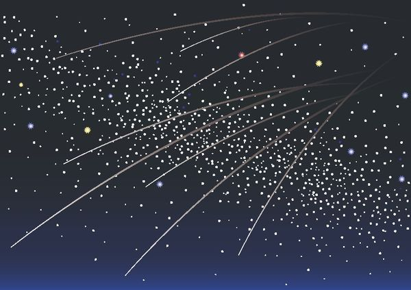 星座の流星群を見る