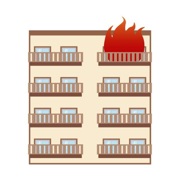 どこかの家が火事になる
