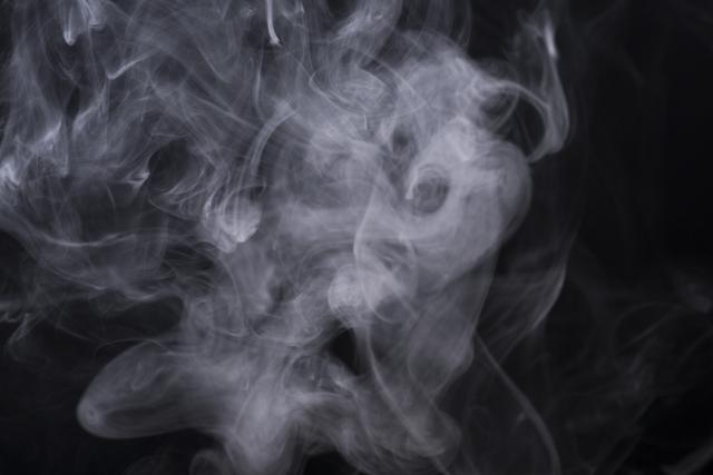 実験をして白い煙がでてくる