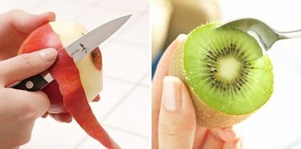 リンゴの皮・キウイの皮